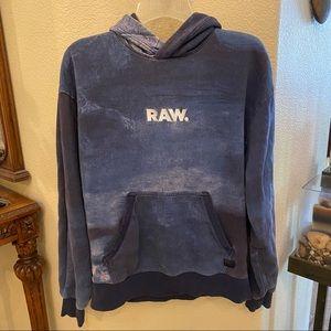 G-STAR RAW Blue Hoodie Sweatshirt Size Small